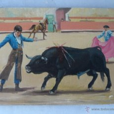 Arte: PINTURA OLEO FIRMADO GIL TEMA TAURINA. Lote 53773791