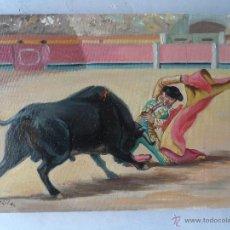 Arte: PINTURA OLEO FIRMADO GIL TEMA TAURINA. Lote 53773879