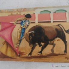 Arte: PINTURA OLEO FIRMADO GIL TEMA TAURINA. Lote 53773982