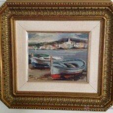Cuadro de Cadaqués óleo del pintor Francesc Llop Marquès -1873 -1970