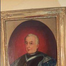 Arte: S.XIX RAFAEL DE CASTRO, 1852, OLEO SOBRE LIENZO, RETRATO DE COMENDADOR DE LA ORDEN DE CARLOS III.. Lote 53833937