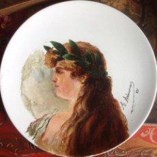 Arte: ANTIGUA PINTURA , OLEO MODERNISTA FIRMADO 1890. Lote 154825446