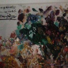 Arte: PALETA UTILIZADA PACO HERNÁNDEZ*VIRGEN LOS REMEDIOS. Lote 53958877