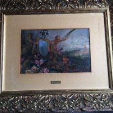 Arte: B. MONGRELL, EXPOSICIÓN UNIVERSAL 1909, BONITO ÓLEO COSTUMBRISTA VALENCIANO. Lote 54004363