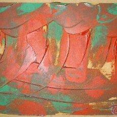 Arte: BOSQUE VASCO . ABSTRACTO. 49X20 CM. FIRMADO: TORAIDO ALGAÑO. Lote 54011015
