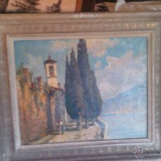 Arte: PRECIOSO OLEO SOBRE LIENZO,FIRMADO .AÑO 1955 LE LOCLE.. Lote 54017637