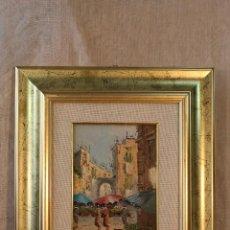 Arte: PAISAJE ORIGINAL FIRMADO, OLEO-TABLE. Lote 54022239