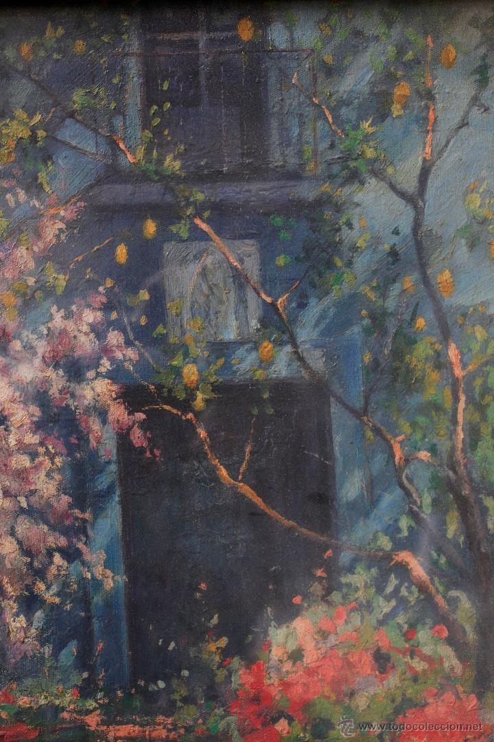 Arte: JUAN GONZÁLEZ SEVILLA, paisaje, año 1941. Óleo sobre lienzo 50x60cm. Marco: 72x83 cm. - Foto 3 - 54030656