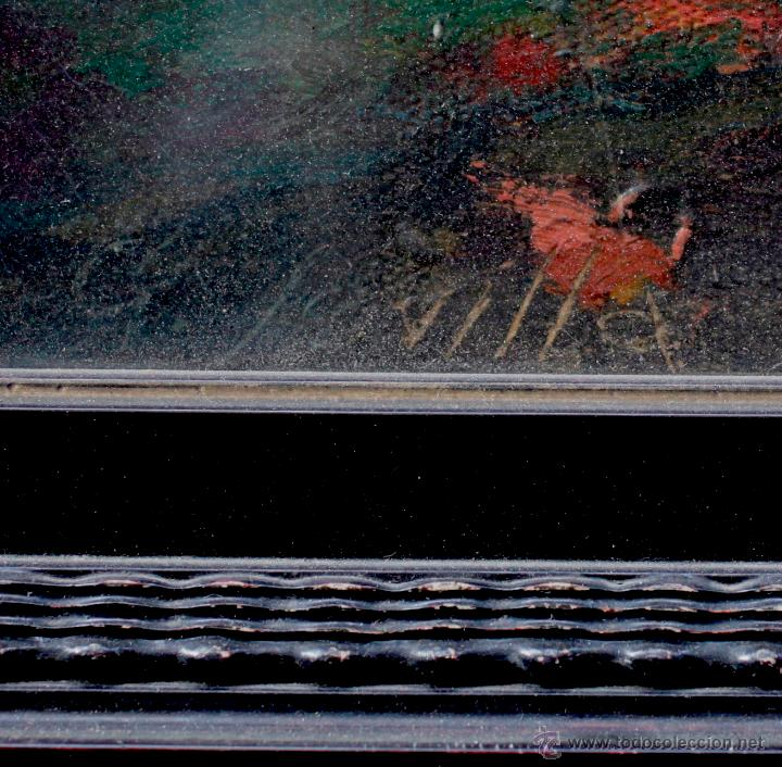 Arte: JUAN GONZÁLEZ SEVILLA, paisaje, año 1941. Óleo sobre lienzo 50x60cm. Marco: 72x83 cm. - Foto 4 - 54030656