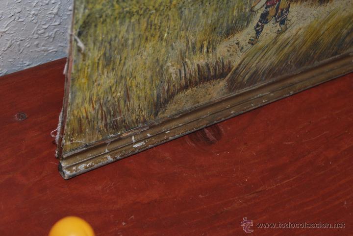 Arte: ÓLEO SOBRE LIENZO Y TABLA - PINTADO POR LAS DOS CARAS - RETRATO MASCULINO - PAISAJE RURAL - Foto 10 - 54047967