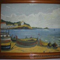 Arte: MAGNIFICA Y ANTIGUA PINTURA AL OLEO DE CADAQUES , PINTADA POR BALLESTOS 57 -. Lote 54055560