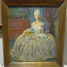 Arte: RETRATO DE MUJER VESTIDA A LA ANTIGUA POR AGAPITO CASAS ABARCA (1874-1964). Lote 54097024