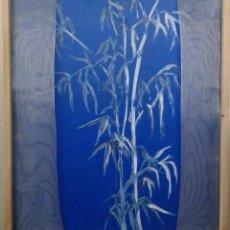 Arte: BAMBUES EN AZUL. VERSION I TECNICA MIXTA. ACRILICO, MADERA Y METAL. DIMENSIONES: 57 CM X 47 CM. Lote 54108864