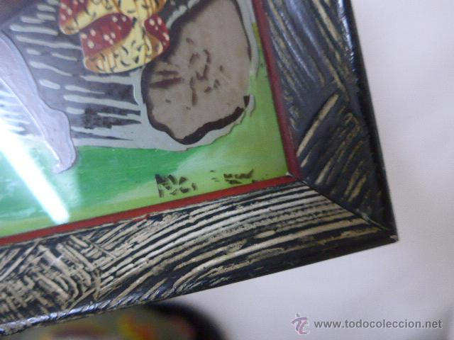 Arte: Antiguo cuadro pintado sobre cristal o vidrio, del caribe o parecido - Foto 4 - 54125531