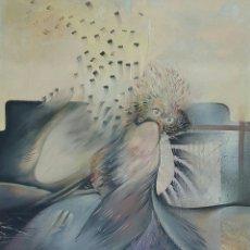 Arte: PACO AGUILAR (MALAGA 1959), PRECIOSA PINTURA ORIGINAL FIRMADA AÑO 1981. Lote 54170330