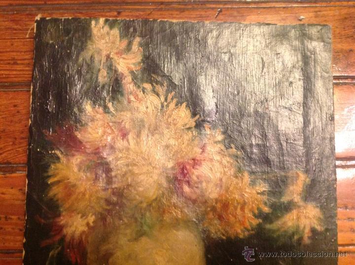 Arte: Oleo sobre lienzo bodegon florero - Foto 3 - 54252735