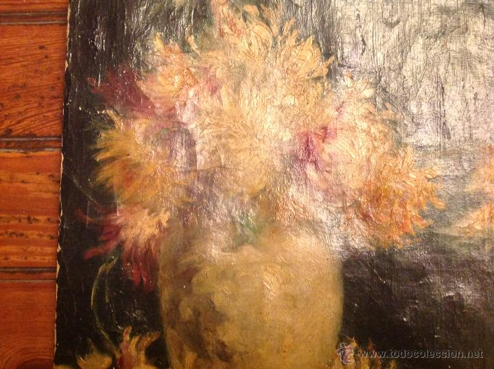 Arte: Oleo sobre lienzo bodegon florero - Foto 4 - 54252735