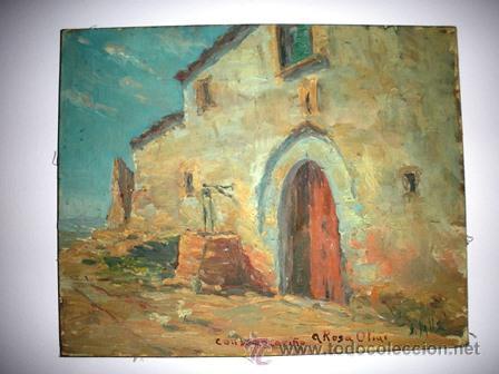 ANTIGUO CUADRO - M A S I A - PINTADO POR J . VALLS - DE LOS AÑOS 1900 - (Arte - Pintura - Pintura al Óleo Moderna siglo XIX)
