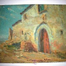 Arte: ANTIGUO CUADRO - M A S I A - PINTADO POR J . VALLS - DE LOS AÑOS 1900 -. Lote 54302341