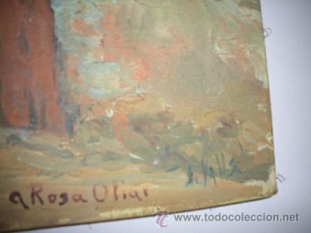 Arte: ANTIGUO CUADRO - M A S I A - PINTADO POR J . VALLS - DE LOS AÑOS 1900 - - Foto 2 - 54302341