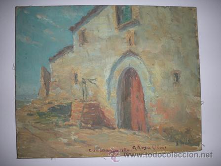 Arte: ANTIGUO CUADRO - M A S I A - PINTADO POR J . VALLS - DE LOS AÑOS 1900 - - Foto 3 - 54302341