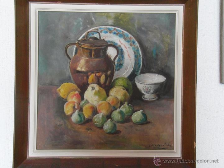 BODEGÓN DE ADELARDO PARRILLA (Arte - Pintura - Pintura al Óleo Moderna siglo XIX)