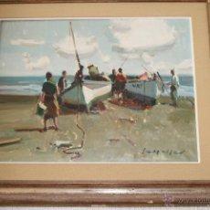 Arte: ESCENAS DE PESCA. EUSTAQUIO SEGRELLES 1936. Lote 54369880