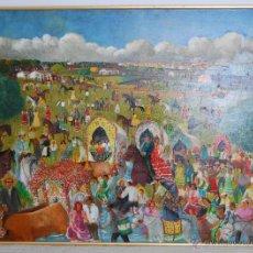 Arte: ROMERIA DEL ROCIO, ALMONTE (HUELVA) - EXTRAORDINARIA PINTURA NAIF. Lote 54384866