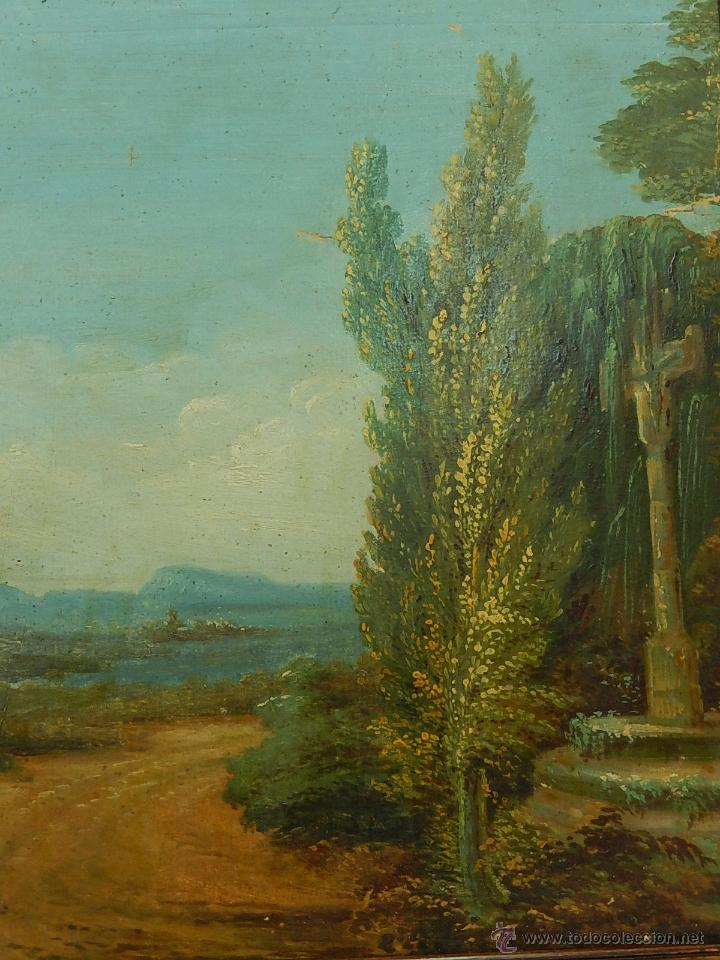 PAISAJE MALLORQUÍN. OLEO SOBRE TABLA. SIGLO XVIII – XIX. MALLORCA. (Arte - Pintura - Pintura al Óleo Antigua siglo XVIII)