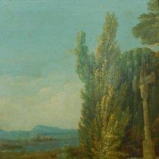 Arte: PAISAJE MALLORQUÍN. OLEO SOBRE TABLA. SIGLO XVIII – XIX. MALLORCA.. Lote 54395970