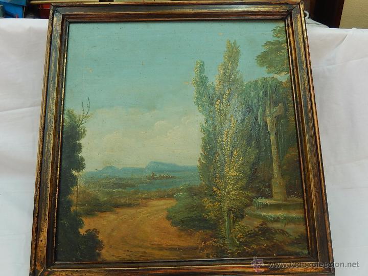 Arte: Paisaje mallorquín. Oleo sobre tabla. Siglo XVIII – XIX. Mallorca. - Foto 2 - 54395970
