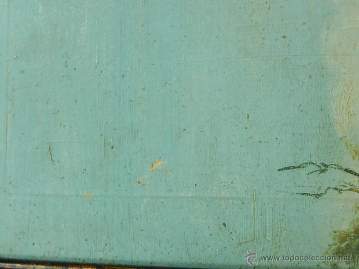 Arte: Paisaje mallorquín. Oleo sobre tabla. Siglo XVIII – XIX. Mallorca. - Foto 5 - 54395970