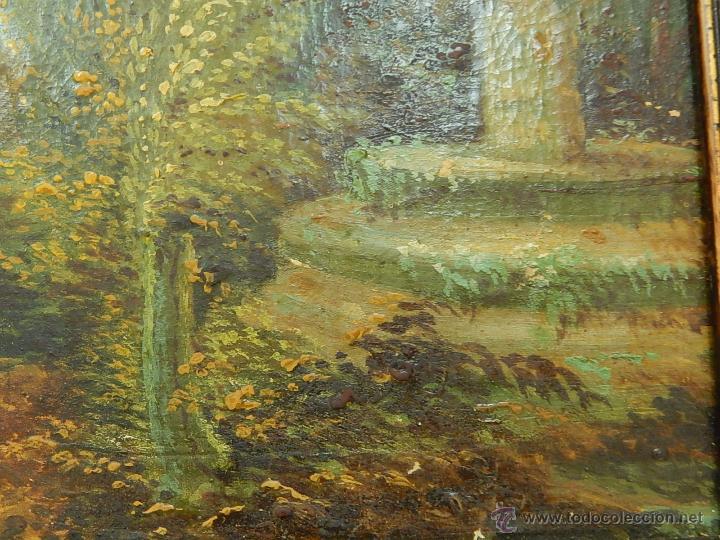 Arte: Paisaje mallorquín. Oleo sobre tabla. Siglo XVIII – XIX. Mallorca. - Foto 7 - 54395970