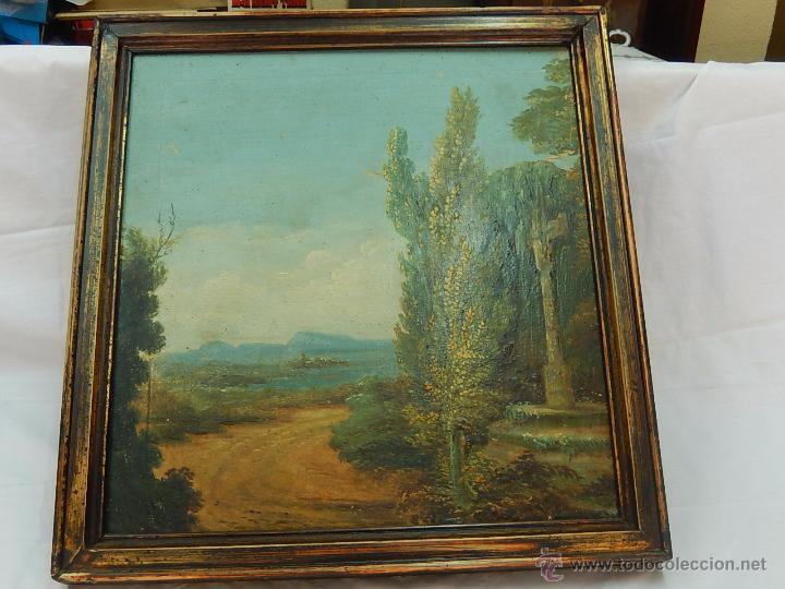 Arte: Paisaje mallorquín. Oleo sobre tabla. Siglo XVIII – XIX. Mallorca. - Foto 8 - 54395970