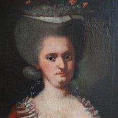 Arte - Retrato oleo baronesa alemana s. XVIII. Ëpoca Luis XVI. - 54426495