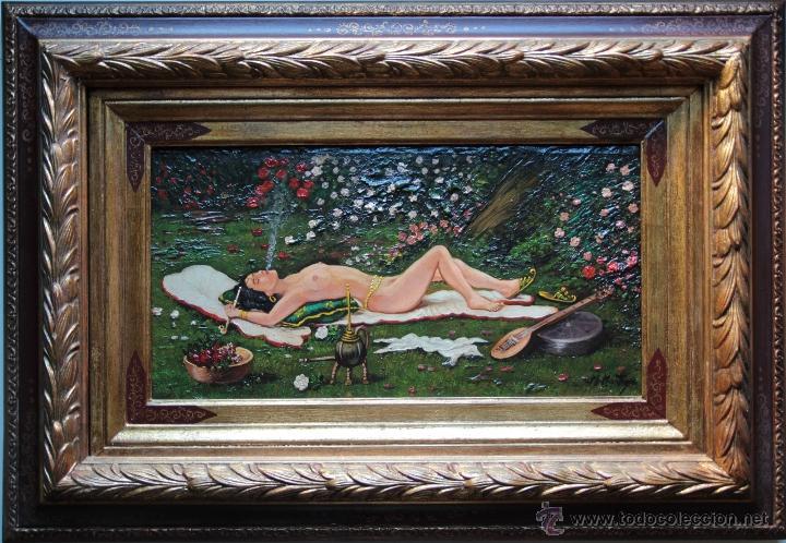 PRECIOSO DESNUDO ARABESCO EN JARDIN - M. MONTOYA (Arte - Pintura - Pintura al Óleo Moderna sin fecha definida)