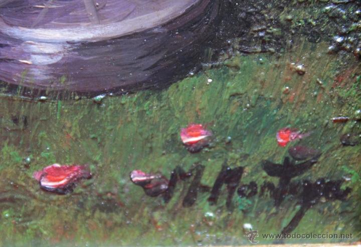 Arte: PRECIOSO DESNUDO ARABESCO EN JARDIN - M. MONTOYA - Foto 5 - 26812569