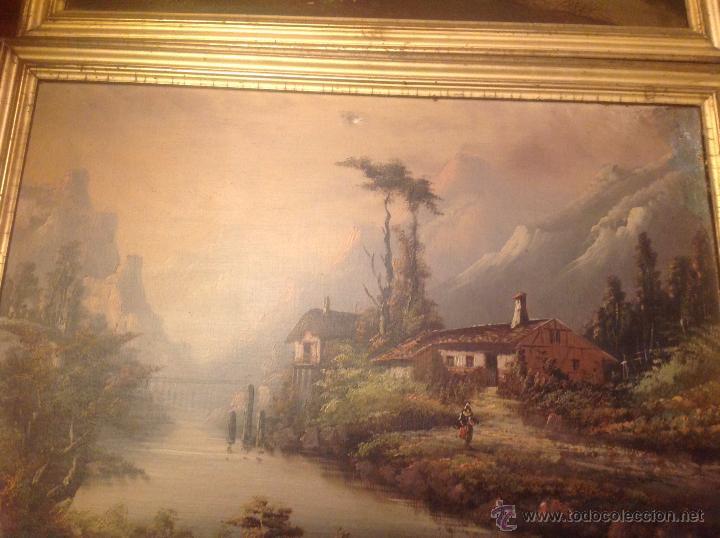 Arte: conjunto de cuatro cuadros oleo sobre lienzo paisajes - Foto 3 - 54518808