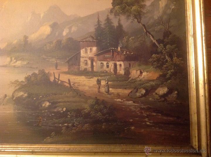 Arte: conjunto de cuatro cuadros oleo sobre lienzo paisajes - Foto 5 - 54518808