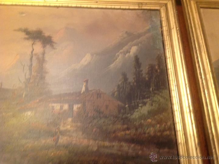 Arte: conjunto de cuatro cuadros oleo sobre lienzo paisajes - Foto 7 - 54518808