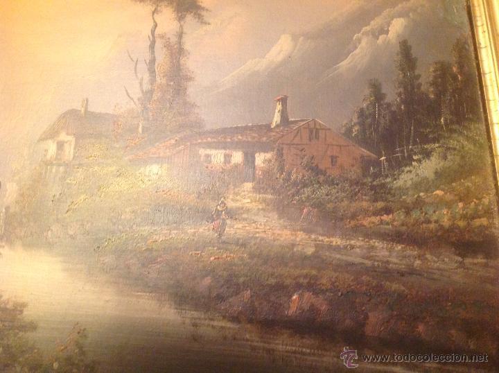 Arte: conjunto de cuatro cuadros oleo sobre lienzo paisajes - Foto 9 - 54518808