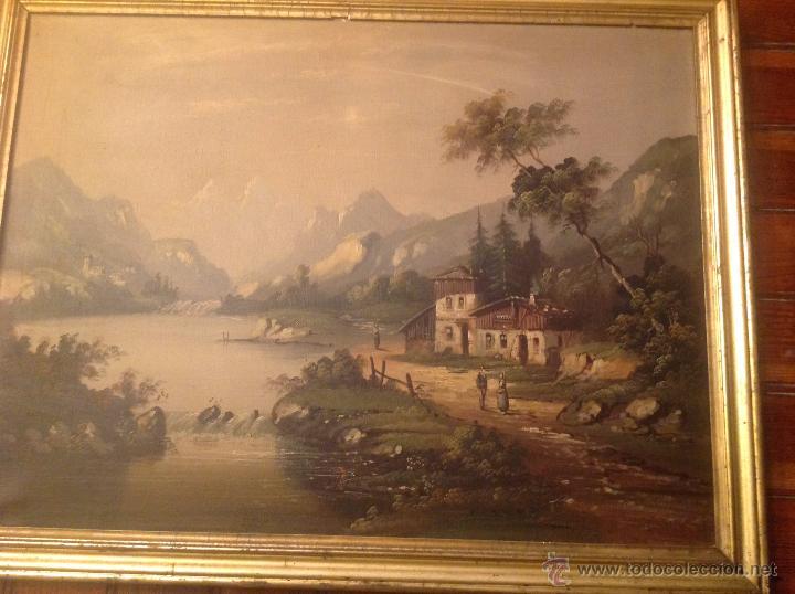 Arte: conjunto de cuatro cuadros oleo sobre lienzo paisajes - Foto 10 - 54518808