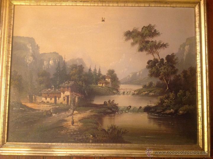 Arte: conjunto de cuatro cuadros oleo sobre lienzo paisajes - Foto 11 - 54518808