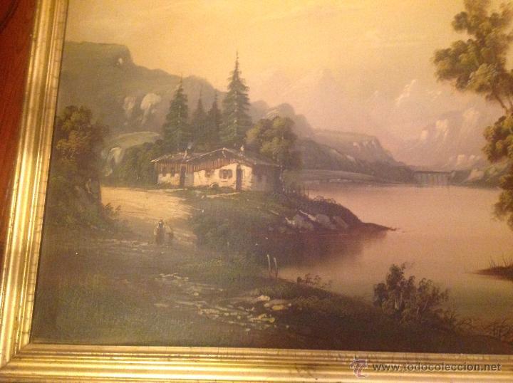 Arte: conjunto de cuatro cuadros oleo sobre lienzo paisajes - Foto 12 - 54518808