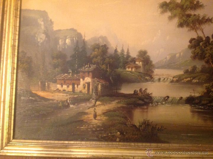 Arte: conjunto de cuatro cuadros oleo sobre lienzo paisajes - Foto 14 - 54518808