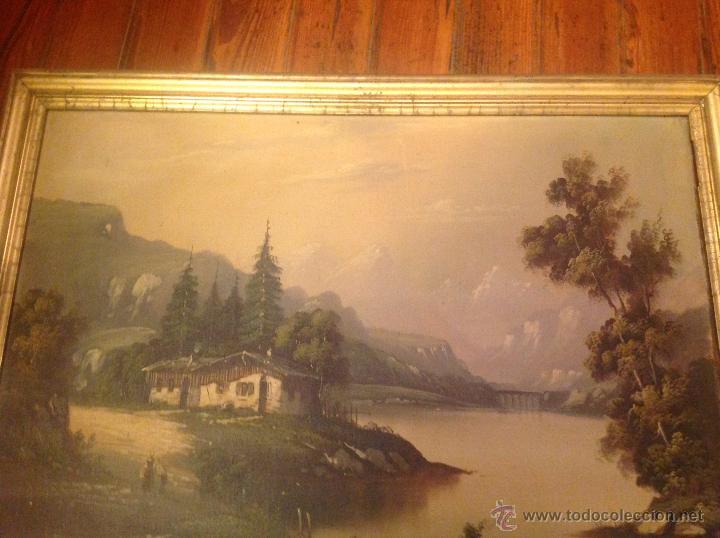 Arte: conjunto de cuatro cuadros oleo sobre lienzo paisajes - Foto 17 - 54518808