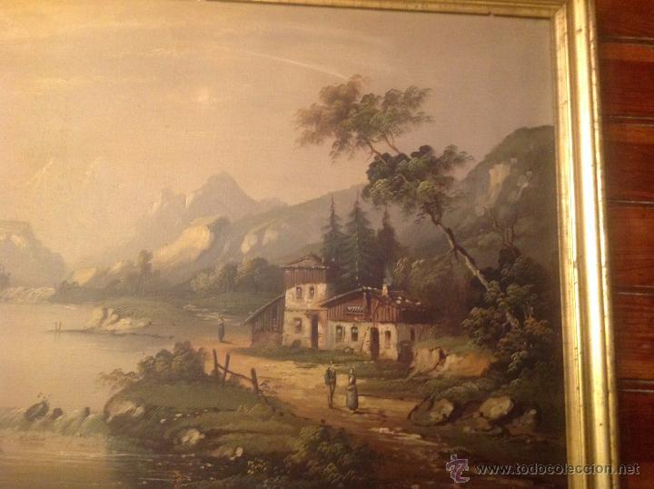 Arte: conjunto de cuatro cuadros oleo sobre lienzo paisajes - Foto 18 - 54518808