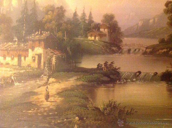 Arte: conjunto de cuatro cuadros oleo sobre lienzo paisajes - Foto 19 - 54518808