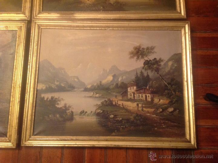 Arte: conjunto de cuatro cuadros oleo sobre lienzo paisajes - Foto 23 - 54518808