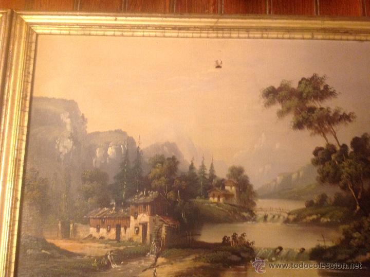 Arte: conjunto de cuatro cuadros oleo sobre lienzo paisajes - Foto 26 - 54518808